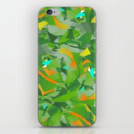 Abstract Green iPhone Skin