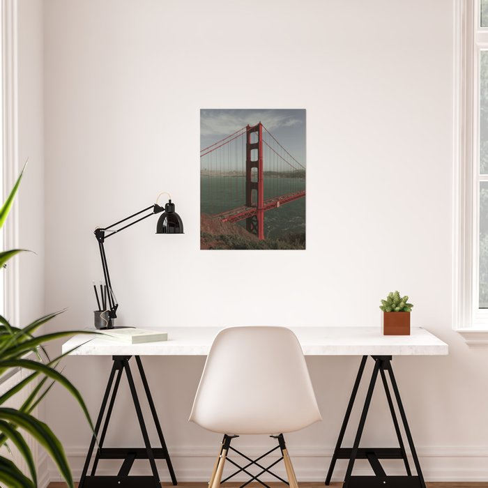 Golden Gate West From Above Poster