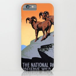 The National parks preserve wild life iPhone Case