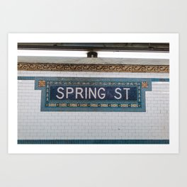 Spring Street Subway Art Print