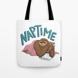 Nap Time Sloth Tote Bag