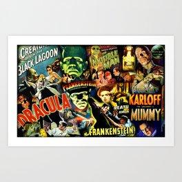 Classic Monster Movie Posters Kunstdrucke