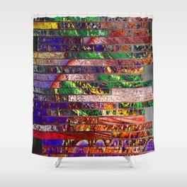 wall of bricks Shower Curtain