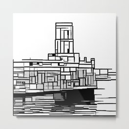 Tower at the sea Metal Print