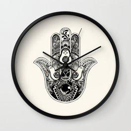 Hamsa Hand Avocado Wall Clock