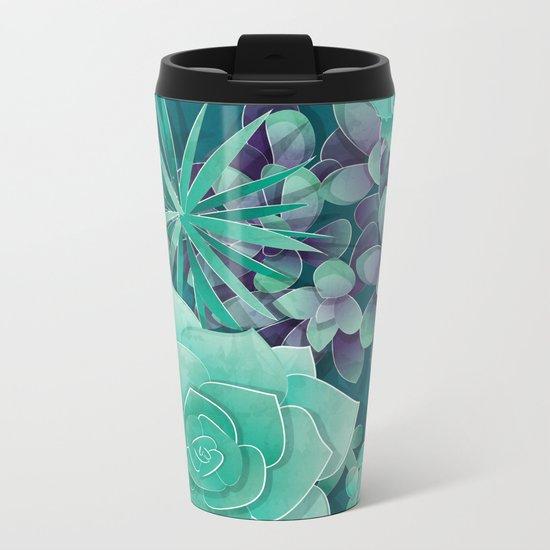 Succulent Love I Metal Travel Mug