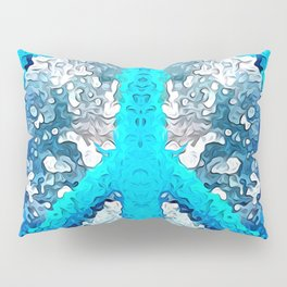 Abstract Blue Peace Sign Pillow Sham