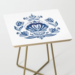 Nordic Blue Rose Side Table