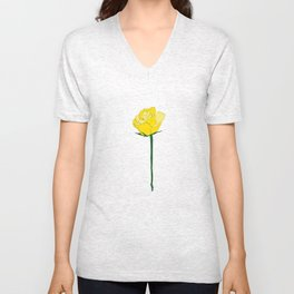 Yellow Rose Unisex V-Neck