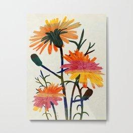 wild  Taraxacum flowers Metal Print