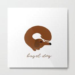 Bagel Dog Metal Print