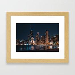 North Avenue Beach Framed Art Print