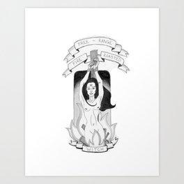 Tattoo Witch Art Print