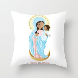Our lady of the Rosary Throw Pillow