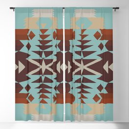 American Native Pattern No. 290 Blackout Curtain