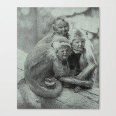 Monkey Children Canvas Print