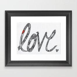 Love Zentangle  Framed Art Print