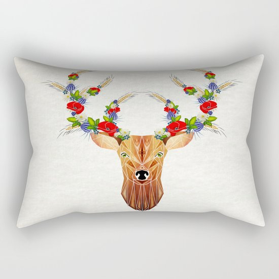 deer spring Rectangular Pillow