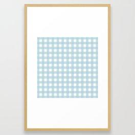 Farmhouse Gingham in Dusty Blue Framed Art Print