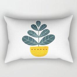 Yellow pot Rectangular Pillow