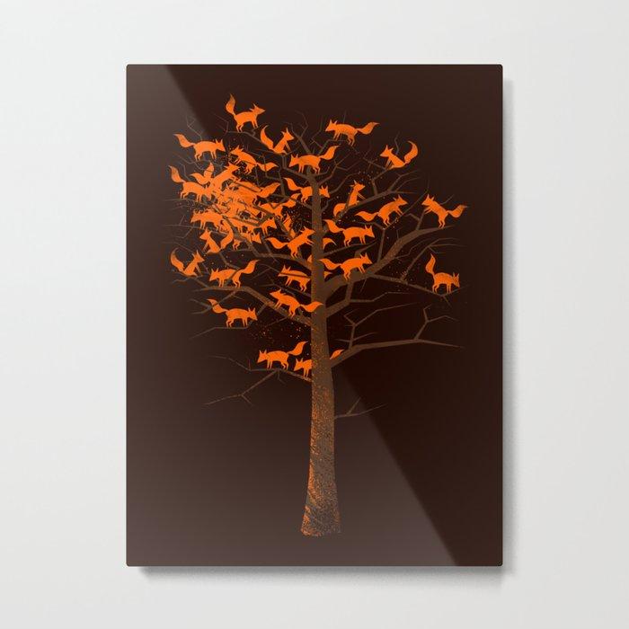 Blazing Fox Tree II Metal Print