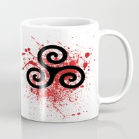 teen wolf Mugs featuring Triskele 2 by AlixInsanity