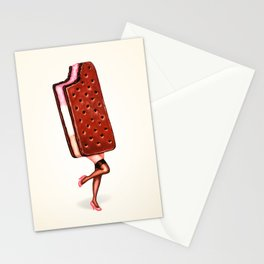 Ice Cream Sandwich Pin-Up Stationery Cards