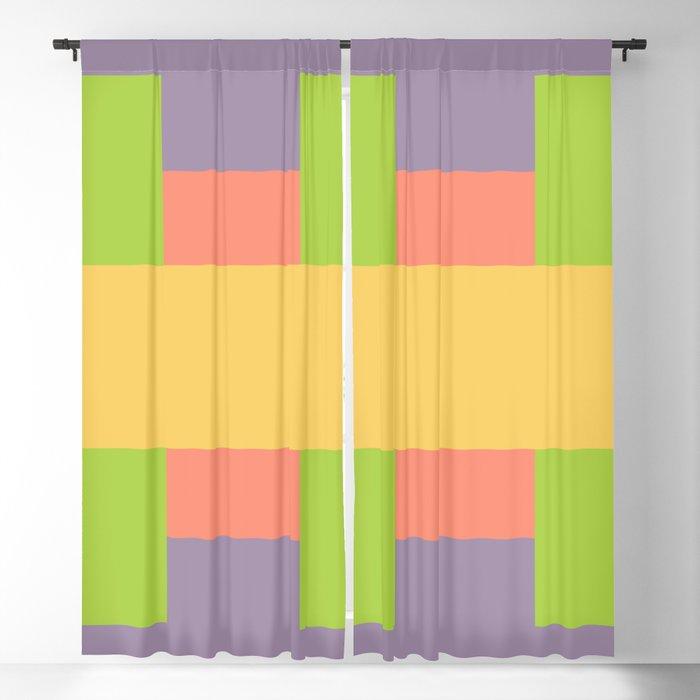 Retro Squares - A Pattern Blackout Curtain