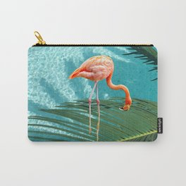 Abstract Flamingo and Palm leaf Carry-All Pouch