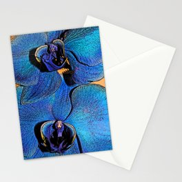 Face of the blue orchid Stationery Cards