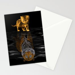 Cute Little Baby Hobbes tiger cat Stationery Cards