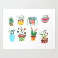 plants Art Prints featuring Plants. by Elga Libano