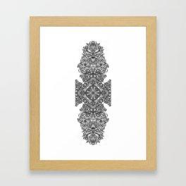 black, white and gray  Framed Art Print
