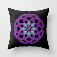 supreme Throw Pillows featuring Flower Supreme by Pedro Vale