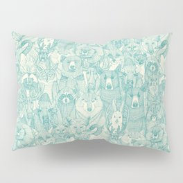 canadian animals teal pearl Pillow Sham