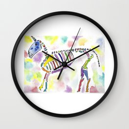 rainbow unicorn skeleton Wall Clock