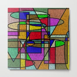 Abstract Stained Glass Metal Print