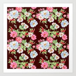 Vintage Floral Pattern No. 5 Art Print