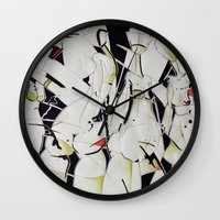 women Wall Clocks featuring women by KA Art