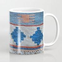kilim Mugs featuring afghani kilim by sara gering