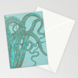 Stardust Tentacles Octopus Stationery Cards