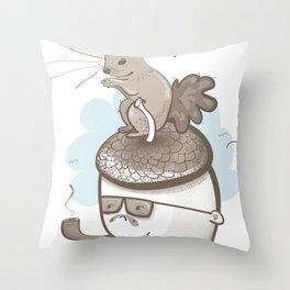 Goodbye Acorn Head Jim Throw Pillow