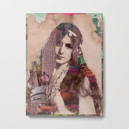 Vintage Woman Built By New York City 2 Metal Print