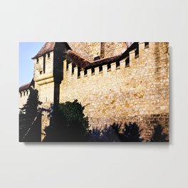 European Stone Building Color Photograph by artist Larry Simpson Metal Print