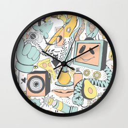 Whole Thing About That (pastels) Wall Clock