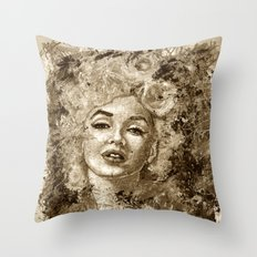 blonde bombshell - sepia version Throw Pillow