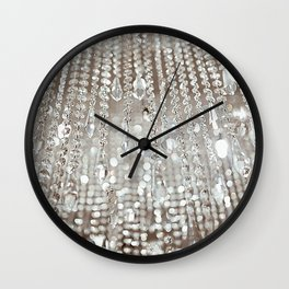 Crystals and Light Wall Clock