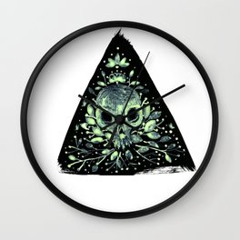 triangular sprouting skull Wall Clock