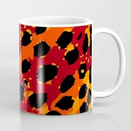 Cheetah Spots in Red, Orange and Yellow Coffee Mug