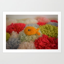 Knit Fish Art Print